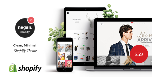 Negan - Clean, Minimal Shopify Theme - Shopping Shopify
