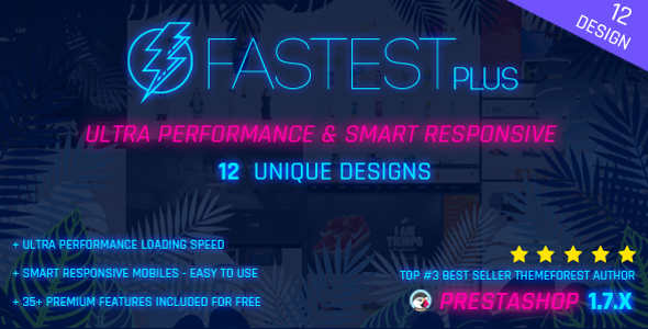 Fastest Plus - Smart Responsive PrestaShop 1.7 , Fashion,Shopping,Grocery - Multi Purpose(13 Homes) - Shopping PrestaShop