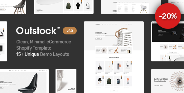 Shopify - Outstock Clean, Minimal , Drag & Drop - Shopping Shopify