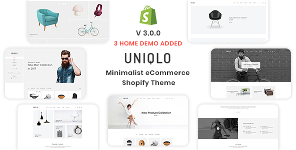 Uniqlo - Minimal eCommerce Shopify Theme - Shopping Shopify